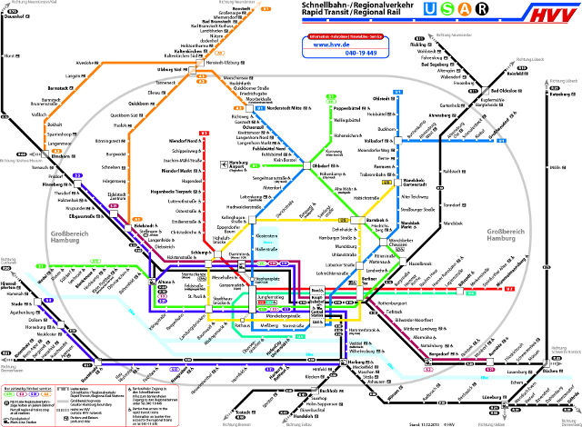 Map of Local Train System
